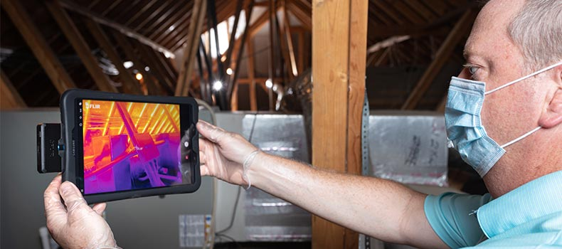 Get a thermal (infrared) home inspection from Exactual Inspection Services